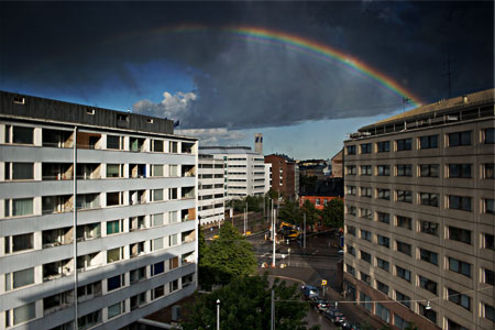 Rainbow over Kallio