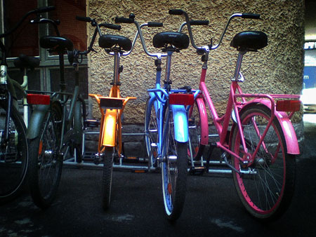 Color spectrum of bikes